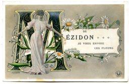 14270 De MÉZIDON Je Vous Envoie Ces Fleurs - Jeune Femme Photo Boyer - Altri Comuni
