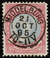 "NTH SC #53b U 1893 Princess Wilhelmina P11.5 W/son ""MIDDELBURG/21 OCT 95/10-11V"" W/flts CV $140.00 - Periodo 1891 – 1948 (Wilhelmina)"