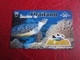 L&Gyr Phonecard,909L Turtle, Atlantis Diving - Austria