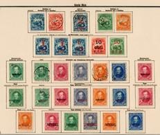 Costa Rica 1862-1907: Complete, Incl. Dienst, Portomarken, Guanacste 1885-89,*/o - Costa Rica