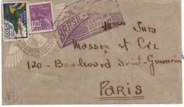 Poste Aerienne Lettre Par ZEPPELIN Du Bresil Pour Paris France - Lettres & Documents