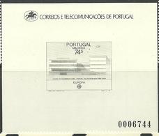 Portugal Madeira 1987 Europa, Modern Architecture, Social Service Center In Funchal  Mi 115 Blackprint - Madeira
