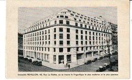 Immeuble REVILLON Rue De La Boëtie PARIS (8ème) Frigorifique Pour Fourrures - Werbepostkarten