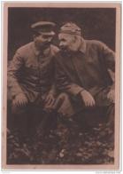 AK - Stalin U. Maxima Gorkeho - Kveten 1945 (Prager Aufstand) - Persönlichkeiten