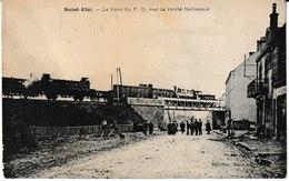 Puy De Dôme SAINT ELOI Le Pont Du P.O. Sur La Route Nationale (train) - Saint Eloy Les Mines
