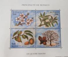 MONACO BLOC FEUILLET BF YT60 QUATRE SAISONS AMANDIER  1993 NEUF SANS CHARNIERE**TTB - Monaco