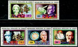 BN2030 Congo 1977 Nobel Winner Curie Fleming And Other 5V MNH - Sonstige