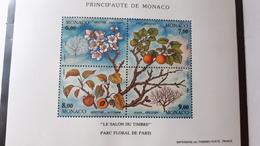 MONACO BLOC FEUILLET BF YT 67 QUATRE SAISONS DE L'ABRICOTIER 1994 NEUF SANS CHARNIERE**TTB - Monaco