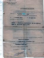 BRIGADE INDÉPENDANTE ALSACE-LORRAINE ATTESTATION ( MÊME NOM LAISSER PASSER DANS LES USINES SIDÉRURGIQUE HAGONDANGE ) - 1939-45