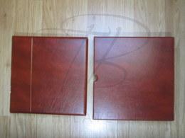 VEND ALBUM AVEC FEUILLES YVERT & TELLIER + BOITIER , FRANCE , 1989 - 1996 , MARRON FONCE !!! - Binders With Pages