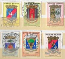 Madagascar 1960 - Lot De 6 Timbres Repoblika Malagasy - Blasons - Madagascar (1960-...)