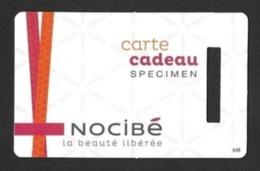 Carte Cadeau  NOCIBE   Spécimen.   Gift Card.   Geschenkkarte.   Carta Regalo. - Gift Cards