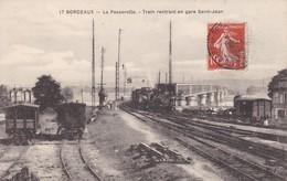 Cpa Dept 33 - Bordeaux - La Passerelle Train Rentrant En Gare (voir Scan Recto-verso) - Bordeaux