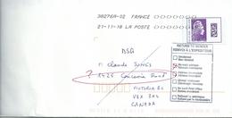 YT 5271 - Marianne L'Engagée Surchargée International - Lettre Pour Le Canada En Retour - 2018-... Marianne L'Engagée