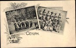 Cp Sri Lanka, Elefanten, Häuptling, Hofstaat - Sri Lanka (Ceylon)