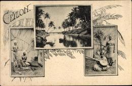 Cp Colombo Sri Lanka, Musikerinnen, Schlangenbeschwörer - Sri Lanka (Ceylon)