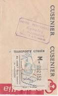 Vignette Colis Postal 3 Kg / Transport Car Citroën  / Sur Facturette Hôtel Lyautey à Gourgeon 70 ( Près Vesoul) - Colis Postaux
