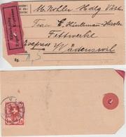 Schweiz - 1,20 Fr. Wappenschild Express-Paketanhänger Vättis - Wädenswil 1937 - Sin Clasificación