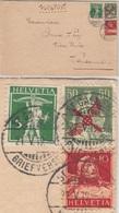 Schweiz - 50 C. Helvetia/Flugpost U.a. Luftpostbrief St. Gallen - Lausanne 1919 - Zwitserland
