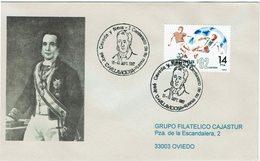 ENVELOPE CANCELLATION CENTENAIRE POLITIQUE JOSE CAVEDA Y NAVA - VOLLAVICIOSA - Celebrità