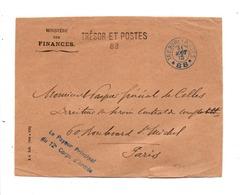 DEVANT DE LETTRE EN FRANCHISE TRESOR ET POSTE 88 GRIFFE PAYEUR GENERAL 12 EME CORPS D'ARMEE 1915 - Guerre De 1914-18