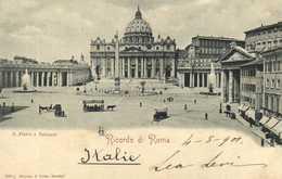 ROMA  Ricordi Di Roma S Pietro E Vaticano RV Beau Timbre Cachet - San Pietro