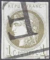 Emission De Bordeaux N° 39B Avec Oblitération Annulation Typographie Des Journaux   Etat Bien - 1870 Emission De Bordeaux
