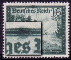 891II Reichspost 16 Pf: Dunkler Fleck über Es, Feld 37, ** - Errors And Oddities