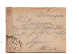 LETTRE FM OUVERTE PAR LA CENSURE MILITAIRE 1915 - Oorlog 1914-18
