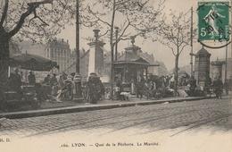 LYON  Quai De La Pêcherie, Le Marché - Lyon