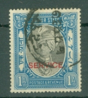 India - Jaipur: 1932/37   Official - Maharaja Singh II 'Service' OVPT  SG O18    1a     Used - Jaipur