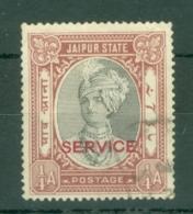 India - Jaipur: 1936/46   Official - Maharaja Singh II 'Service' OVPT  SG O23    ¼a     Used - Jaipur