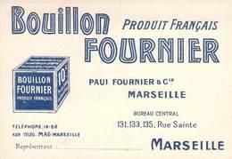 """CPA / CARTE DE VISITE FRANCE 13 """"Marseille, Rue Sainte, Bouillon FOURNIER"""" - Marsiglia"""
