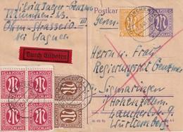 ALLEMAGNE 1946    ZONE ANGLO-AMRICAINE   ENTIER POSTAL  /GANZSACHE/POSTAL STATIONERY CARTE EXPRES DE MÜNCHEN - Zone Anglo-Américaine