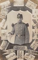 20-258 : REIMS. SOUVENIR AVEC CARTE PHOTO DE SOLDAT DU 132° - Reims