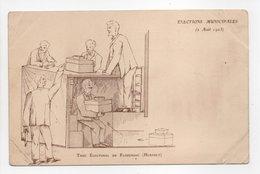 - CPA FLORENSAC (34) - ÉLECTIONS MUNICIPALES (2 Août 1903) - Truc Électoral De Florensac - - Francia