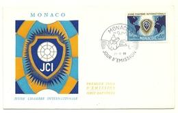 1969 - Monaco 808 Camera Dei Giovani     FDC     16/32M - Buste
