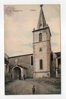 - CPA FAUGÈRES (34) - L'Eglise (avec Personnages) - Edition A. B. N° 4 - - Autres Communes