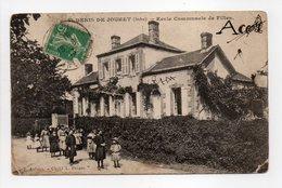 - CPA SAINT-DENIS DE JOUHET (36) - Ecole Communale De Filles 1913 (belle Animation) - Edition Aufrère - - Francia