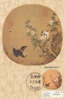 Taiwan Taipei Carte Maximum Chien Chat Fleurs 14.8.74 Superbe - Other