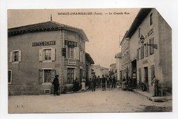 - CPA BOUGÉ-CHAMBALUD (38) - La Grande Rue (HOTEL DERNE - HOTEL DU MIDI) - Edition L. C. - - Autres Communes