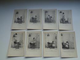 Beau Lot De 8 Cartes Postales De Fantaisie  Enfant  Fille  Fillette    Mooi Lot Van 8 Postkaarten Van Fantasie  Kind - 5 - 99 Cartes