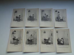 Beau Lot De 8 Cartes Postales De Fantaisie  Enfant  Fille  Fillette    Mooi Lot Van 8 Postkaarten Van Fantasie  Kind - Cartes Postales