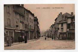 - CPA JALLIEU (38) - La Grande Rue (avec Personnages) - Edition Martel 1088 - - Jallieu