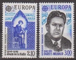 Europa, Musique - FRANCE - Adam De La Halle, Trouvère - Darius Milhaud, Compositeur - N° 2366-2367 ** - 1985 - France