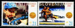 AT4364 Slovenia 2000 Olympic Shooting Rowing Boat Etc. 2V MNH - Eslovenia