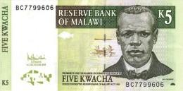 Malawi 5 Kwacha 2005  Pick 36 UNC - Malawi