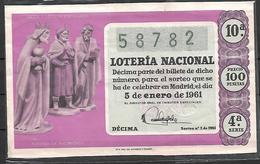 ESPAÑA, 1961 - Billetes De Lotería