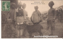 Militaria Armée - Guerre 1914 - Hindous Et Leur Idole Chèvre Goat Ziege - War 1914-18
