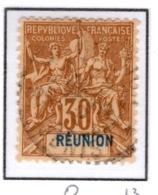 Ex Colonie Française  *  La Réunion  *  Poste  40  Obl - Isola Di Rèunion (1852-1975)
